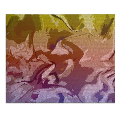 Desk Pad - Honeycomb Marble Abstract 6