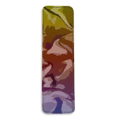 Leather Bookmarks - Honeycomb Marble Abstract 6