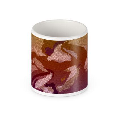 Pen Pot - Honeycomb Marble Abstract 6