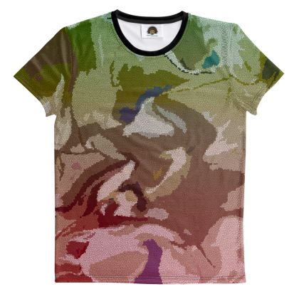 T Shirt - Honeycomb Marble Abstract 2