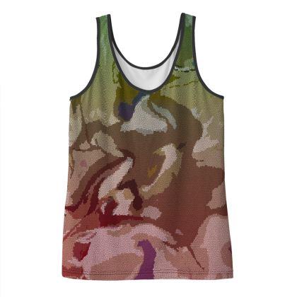 Ladies Vest Top - Honeycomb Marble Abstract 2