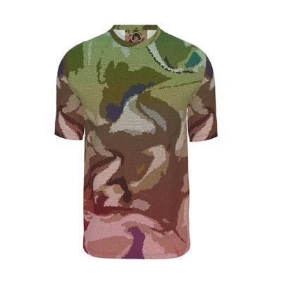 Mens T-Shirt - Honeycomb Marble Abstract 2