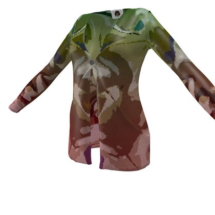 Ladies Cardigan With Pockets - Honeycomb Marble Abstract 2