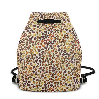 Leopard Skin Collection Bucket Backpack