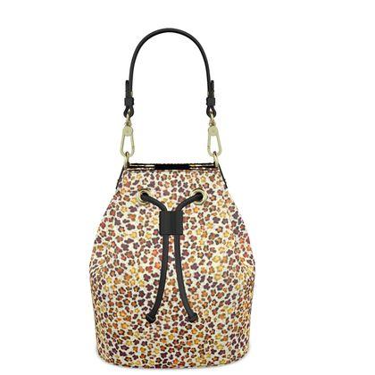 Leopard Skin Collection Bucket Bag