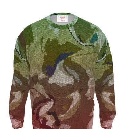 Sweatshirt - Honeycomb Marble Abstract 2