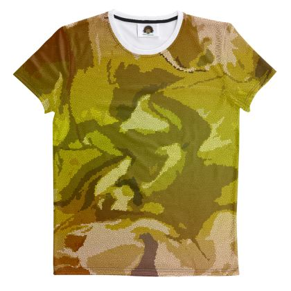 T Shirt - Honeycomb Marble Abstract 3