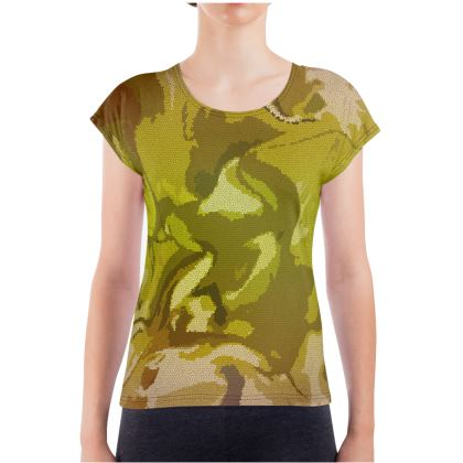 Ladies T Shirt - Honeycomb Marble Abstract 3