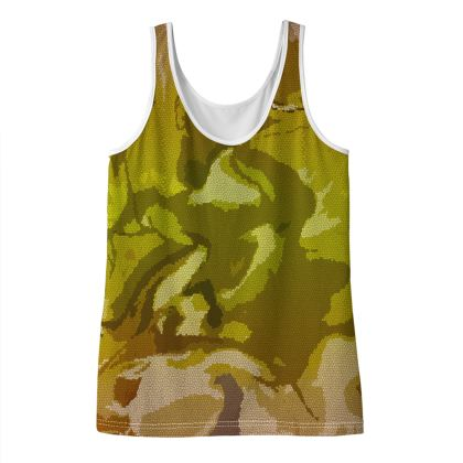 Ladies Vest Top - Honeycomb Marble Abstract 3