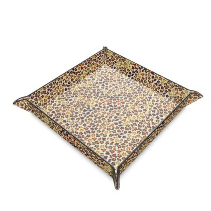 Leopard Skin Collection Leather Trinket Tray