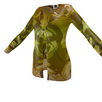 Ladies Cardigan With Pockets - Honeycomb Marble Abstract 3