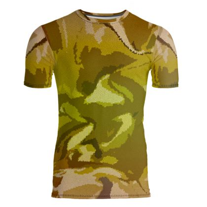 Slim Fit Mens T-Shirt - Honeycomb Marble Abstract 3