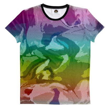 T Shirt - Honeycomb Marble Abstract 5
