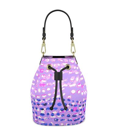 Textural Collection multicolored in mauve and blue Bucket Bag