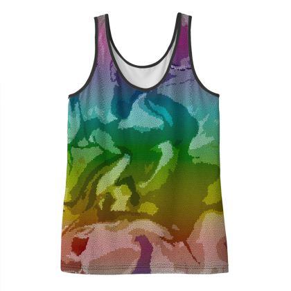 Ladies Vest Top - Honeycomb Marble Abstract 5