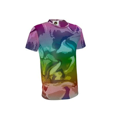 Mens T-Shirt - Honeycomb Marble Abstract 5