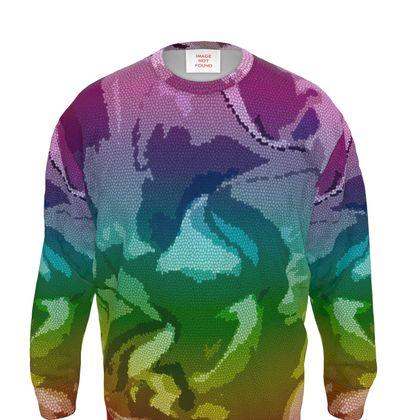Sweatshirt - Honeycomb Marble Abstract 5