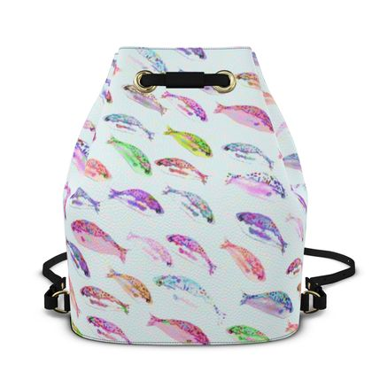 Tropical Fish Collection Bucket Backpack