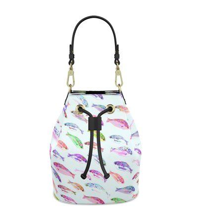 Tropical Fish Collection Bucket Bag