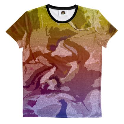 T Shirt - Honeycomb Marble Abstract 6