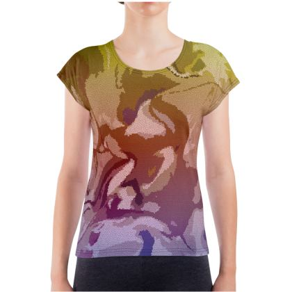 Ladies T Shirt - Honeycomb Marble Abstract 6
