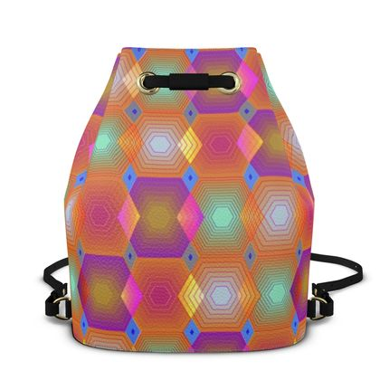Geometrical Shapes Collection Bucket Backpack