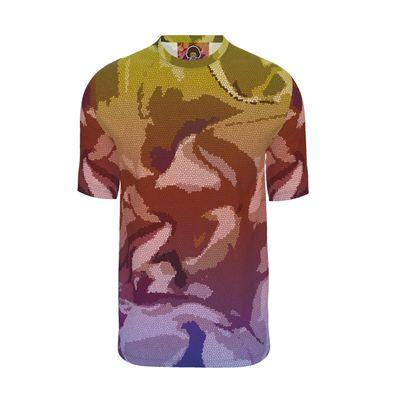 Mens T-Shirt - Honeycomb Marble Abstract 6