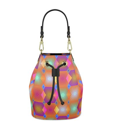 Geometrical Shapes Collection Bucket Bag