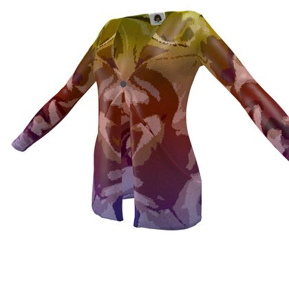 Ladies Cardigan With Pockets - Honeycomb Marble Abstract 6
