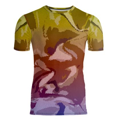 Slim Fit Mens T-Shirt - Honeycomb Marble Abstract 6