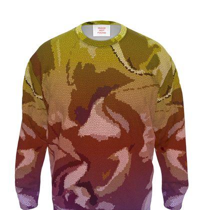 Sweatshirt - Honeycomb Marble Abstract 6