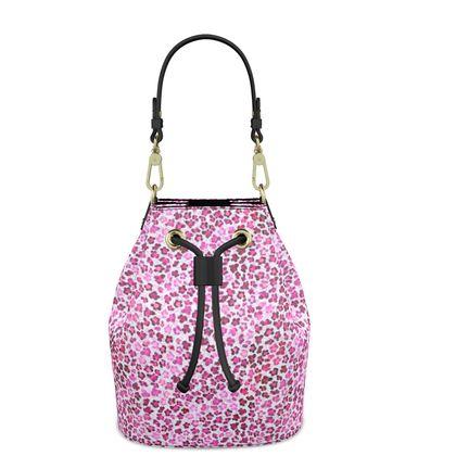Leopard Skin in Magenta Collection Bucket Bag
