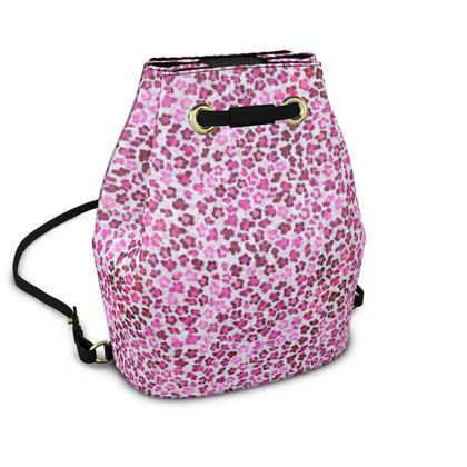 Leopard Skin in Magenta Collection Bucket Backpack