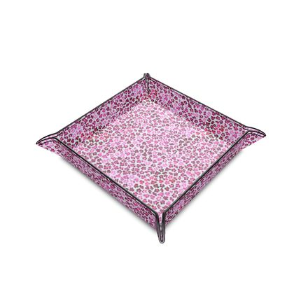 Leopard Skin in Magenta Collection Leather Trinket Tray