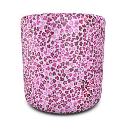 Leopard Skin in Magenta Collection Round Pouffe