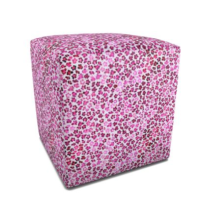 Leopard Skin in Magenta Collection Square Pouffe