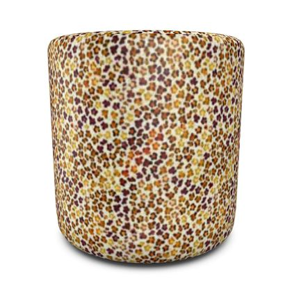 Leopard Skin Collection Round Pouffe