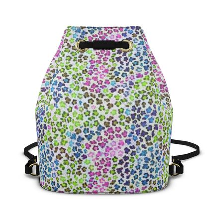 Leopard Skin Multicoloured Collection Bucket Backpack