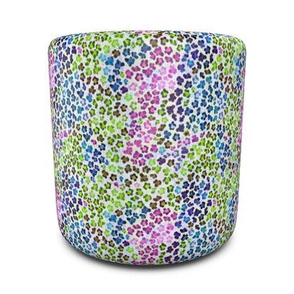 Leopard Skin Multicoloured Collection Round Pouffe