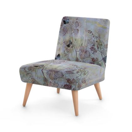 Tapestry.  An exquisite occasional chair in soft blues and greens that reflects the beauty of National Nature Reserves