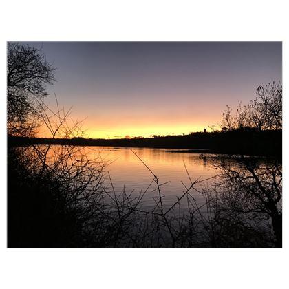 Sunset over Argal Reservoir Canvas