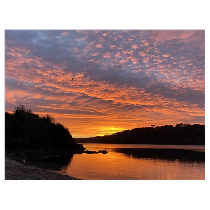 Ferry Boat on the Helford December Sunrise Canvas