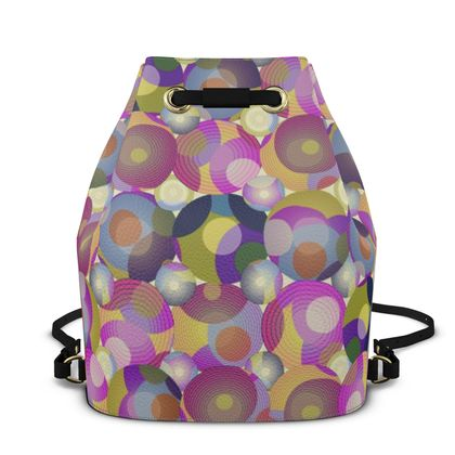 Moon Collection on cream Bucket Backpack