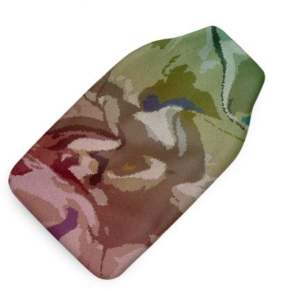 Hot Water Bottle - Honeycomb Marble Abstract 2