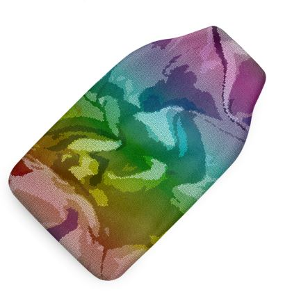 Hot Water Bottle - Honeycomb Marble Abstract 5