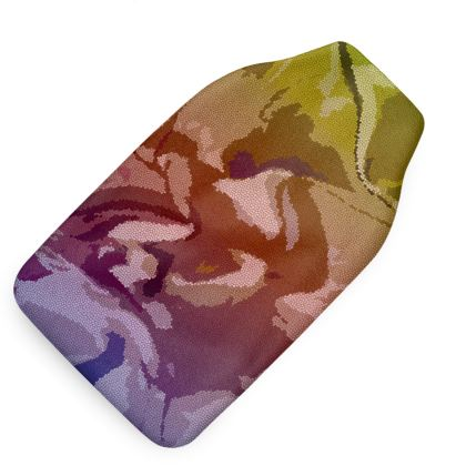 Hot Water Bottle - Honeycomb Marble Abstract 6