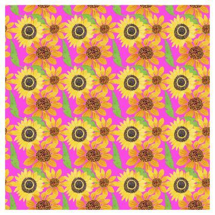 Naive Sunflowers On Fuchsia Directors Chair