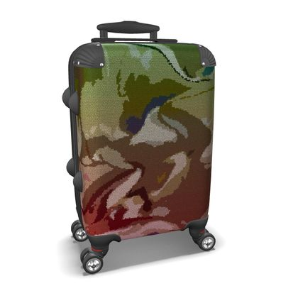 Suitcase - Honeycomb Marble Abstract 2