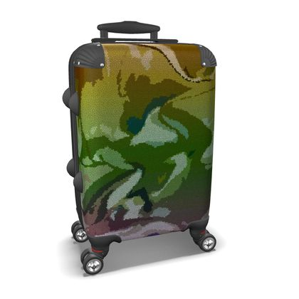 Suitcase - Honeycomb Marble Abstract 4