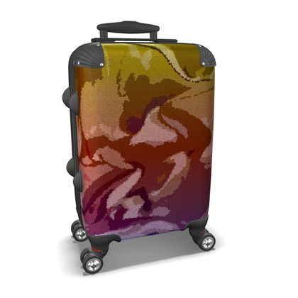 Suitcase - Honeycomb Marble Abstract 6